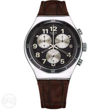 Swatch Irony Browned Chronograph Model YVS400