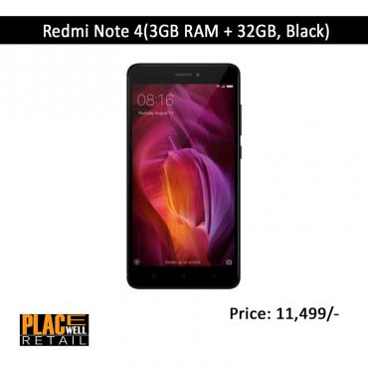 Redmi Note 4(2GB RAM + 32GB, Black)