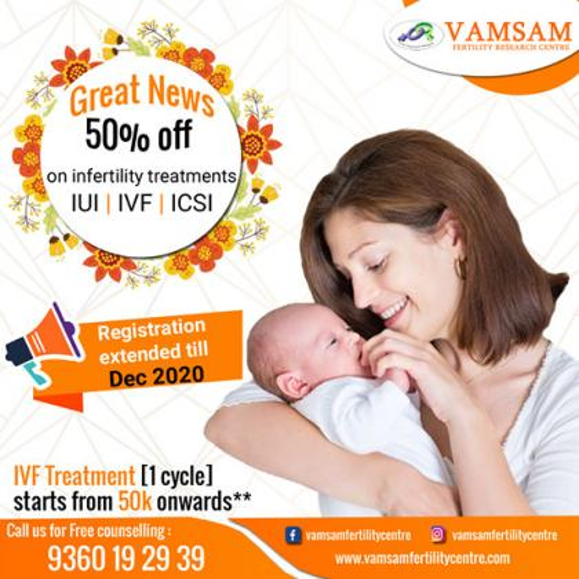 Fertility treatment | IVF treatment | Vamsam Fertility Centre